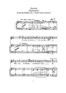 Déclaration: Для высокого голоса и фортепиано by Жюль Массне