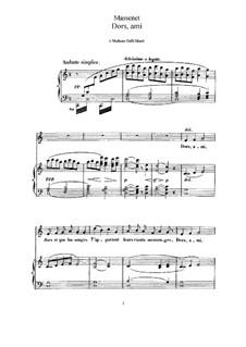 Dors, ami: Для высокого голоса и фортепиано by Жюль Массне