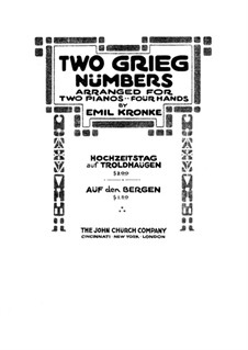 Сцены из сельской жизни, Op.19: No.1 Mountian Dance, for Two Pianos Four Hands by Эдвард Григ