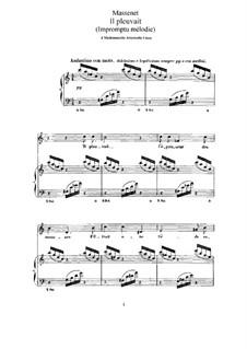 Il pleuvait: Для высокого голоса и фортепиано by Жюль Массне