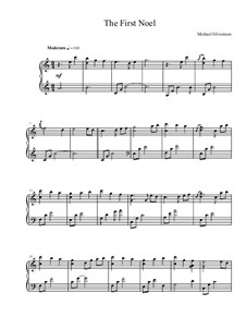 The First Nowell (The First Noël), for Piano: Version by Silverman by folklore