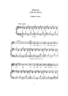 Jour de noces: Для высокого голоса и фортепиано by Жюль Массне