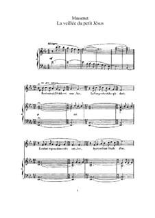 La veillée du petit Jésus: Для высокого голоса и фортепиано by Жюль Массне