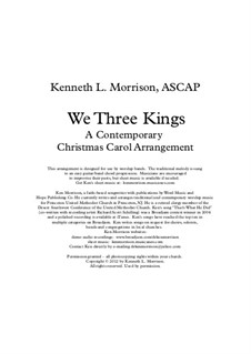 We Three Kings of Orient are: Для голоса и фортепиано by John H. Hopkins Jr.