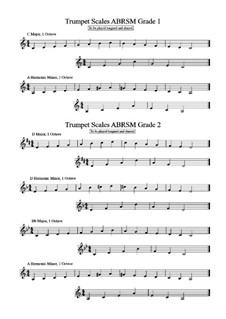 Trumpet Scales: Grades 1 and 2 ABRSM by Tim Curd