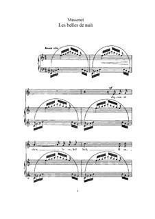 Les belles de nuit: Для высокого голоса и фортепиано by Жюль Массне