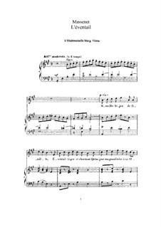 L'éventail: Для высокого голоса и фортепиано by Жюль Массне