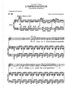 L'improvisateur: Для среднего голоса и фортепиано by Жюль Массне
