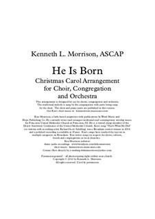 He Is Born, the Holy Child (Il est ne, le divin enfant): For mixed choir and piano by folklore