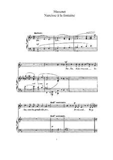 Narcisse à la fontaine: Для высокого голоса и фортепиано by Жюль Массне