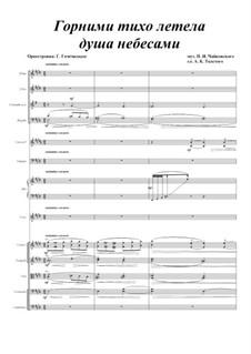 Семь романсов, TH 103 Op.47: No.2 Горними тихо летела душа небесами, для голоса и оркестра by Петр Чайковский