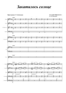 Шесть романсов, TH 109 Op.73: No.4 Закатилось солнце, для голоса и оркестра by Петр Чайковский