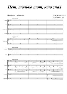 Шесть романсов, TH 93 Op.6: No.6 Нет, только тот, кто знал, для голоса и оркестра by Петр Чайковский