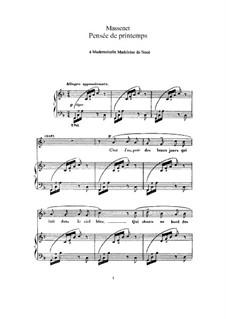 Pensée de printemps: Для высокого голоса и фортепиано by Жюль Массне