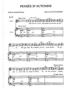 Pensée d'automne: Для среднего голоса и фортепиано by Жюль Массне