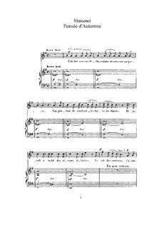 Pensée d'automne: Для высокого голоса и фортепиано by Жюль Массне