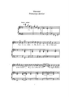 Printemps dernier: Для высокого голоса и фортепиано by Жюль Массне