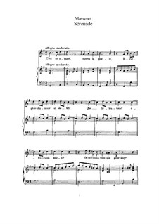 Серенада: Для высокого голоса и фортепиано by Жюль Массне