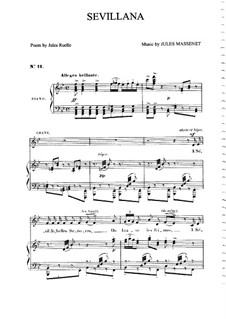 Sevillana: Для среднего голоса и фортепиано by Жюль Массне