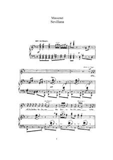 Sevillana: Для высокого голоса и фортепиано by Жюль Массне