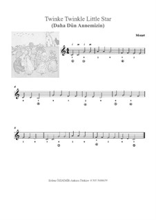 Twinkle, Twinkle Little Star: For any instrument by folklore