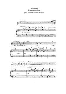 Sonnet matinal: Для высокого голоса и фортепиано by Жюль Массне