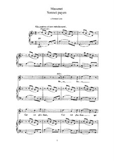 Sonnet païen: Для высокого голоса и фортепиано by Жюль Массне