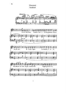 Souhait: Для высокого голоса и фортепиано by Жюль Массне