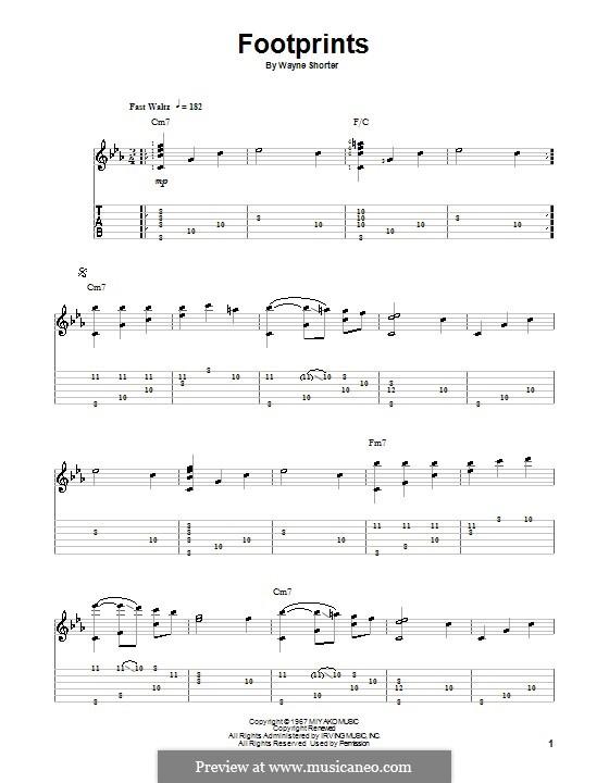 Footprints: Для гитары с табулатурой by Wayne Shorter