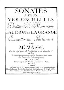Соната для двух виолончелей No.1 ми минор: Соната для двух виолончелей No.1 ми минор by Жан-Батист Массе