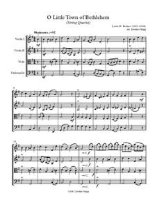О малый город Вифлеем: Для струнного квартета by Льюис Генри Реднер