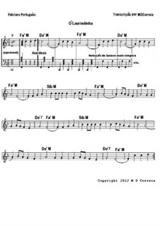 Ó Laurindinha: Partitura by folklore