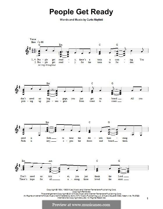 People Get Ready (Eva Cassidy): Для гитары с табулатурой by Curtis Mayfield