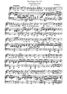 Two Sacred Songs, Op.112: Клавир с вокальной партией by Феликс Мендельсон-Бартольди