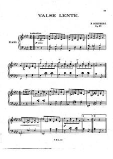 Восемнадцать вальсов для фортепиано, Op.9a: Вальс No.2 by Франц Шуберт
