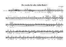 5 works for alto violin solo: Book No.1a, MVWV 723 a by Maurice Verheul