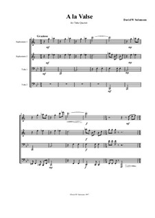 A la valse: For tuba quartet by Дэвид Соломонс