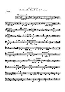 Гибриды или Фингалова пещера, Op.26: Партия литавр by Феликс Мендельсон-Бартольди