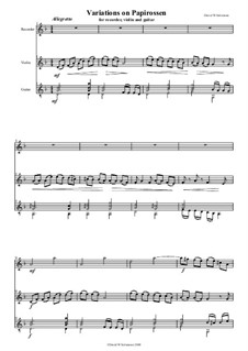 Papirossen: For recorder, violin and guitar by folklore
