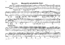 Морская тишь и счастливое плавание, Op.27: Для фортепиано в 4 руки by Феликс Мендельсон-Бартольди