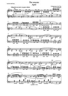 No.4 Апрель (Подснежник): Для аккордеона (или баяна) by Петр Чайковский