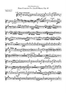 Концерт для фортепиано с оркестром No.2 ре минор, Op.40: Партии кларнетов by Феликс Мендельсон-Бартольди