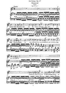 Шесть песен, Op.47: Сборник by Феликс Мендельсон-Бартольди
