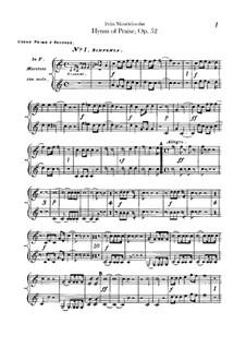 Симфония No.2 си-бемоль мажор 'Хвалебный гимн', Op.52: Партия валторн by Феликс Мендельсон-Бартольди