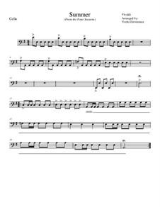 Концерт для скрипки с оркестром No.2 соль минор 'Лето', RV 315: Movement I, for school string orchestra– cello part by Антонио Вивальди