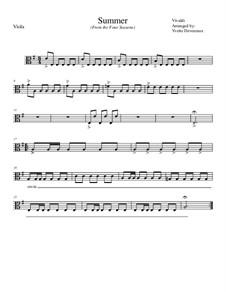 Концерт для скрипки с оркестром No.2 соль минор 'Лето', RV 315: Movement I, for school string orchestra – viola part by Антонио Вивальди