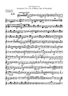 Симфония No.3 ля минор 'Шотландская', Op.56: Партии труб by Феликс Мендельсон-Бартольди