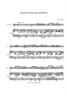 Sonata for Alto Sax and Piano: Sonata for Alto Sax and Piano by Jordan Grigg