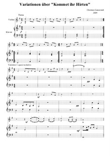 Variationen über 'Kommet, Ihr Hirten': Für Violine und Klavier by Christian Ganswindt