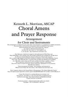 Choral Amens and Prayer Response: Choral Amens and Prayer Response by Ken Morrison